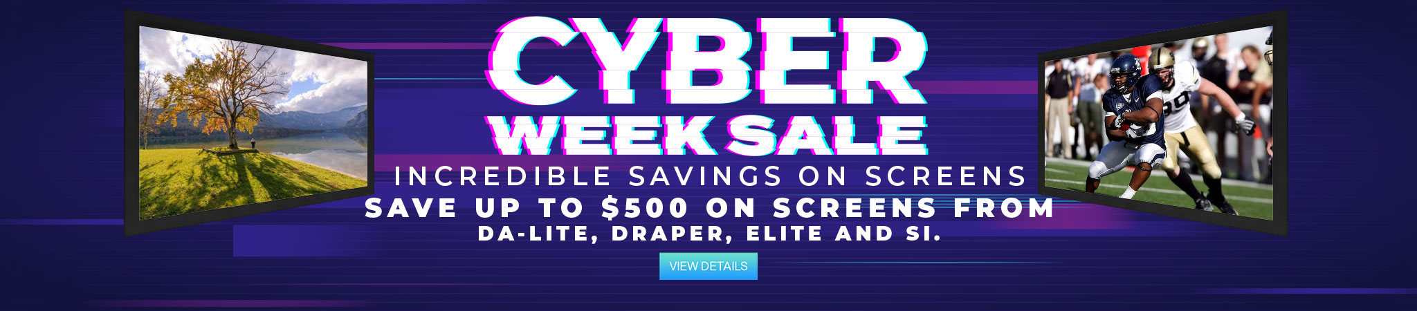 Projector People Cyber Week Screens Sale