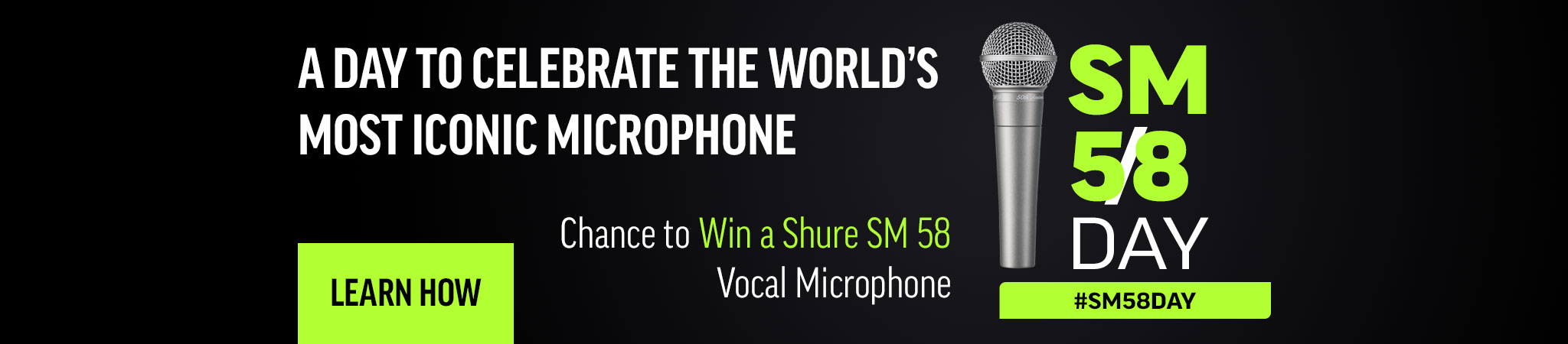 Shure SM58 Giveaway